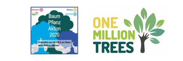 Bäume pflanzen zum Rotaract-Rotary-Action-Day am 25.04.2020